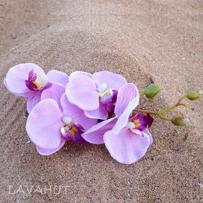 Orchid Purple Hawaiian Flower Hair Clip - Purple - Hair Accessories