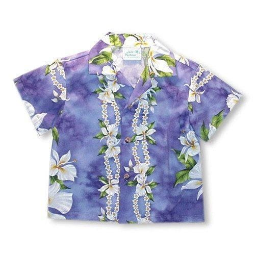 Orchid Purple Hawaiian Teen Shirt - Boys Hawaiian Shirts