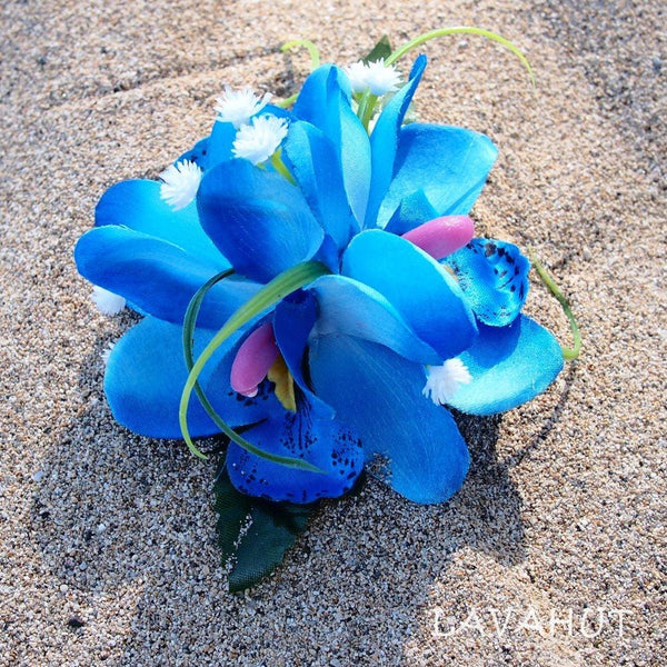 Orchid Wonder Blue Hawaiian Flower Hair Clip - Hair Accessories