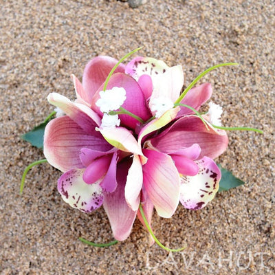 Orchid wonder Blush Hawaiian Flower Hair Clip - Blush - Hair Accessories
