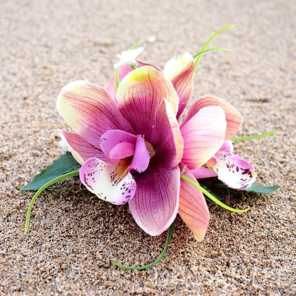 Orchid Wonder Blush Hawaiian Flower Hair Clip - Hair Accessories