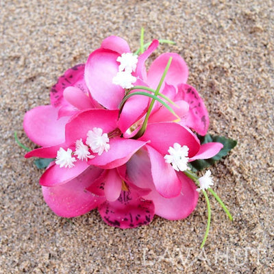 Orchid wonder Pink Hawaiian Flower Hair Clip - Pink - Hair Accessories