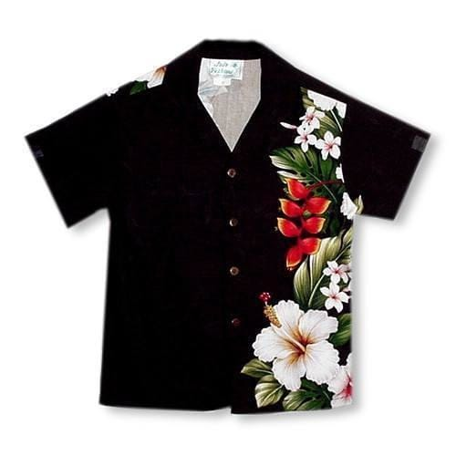 Paradise Black Hawaiian Teen Shirt - Boys Hawaiian Shirts