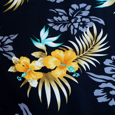 Passion Black Hawaiian Rayon Fabric by the Yard - Black - Fabric