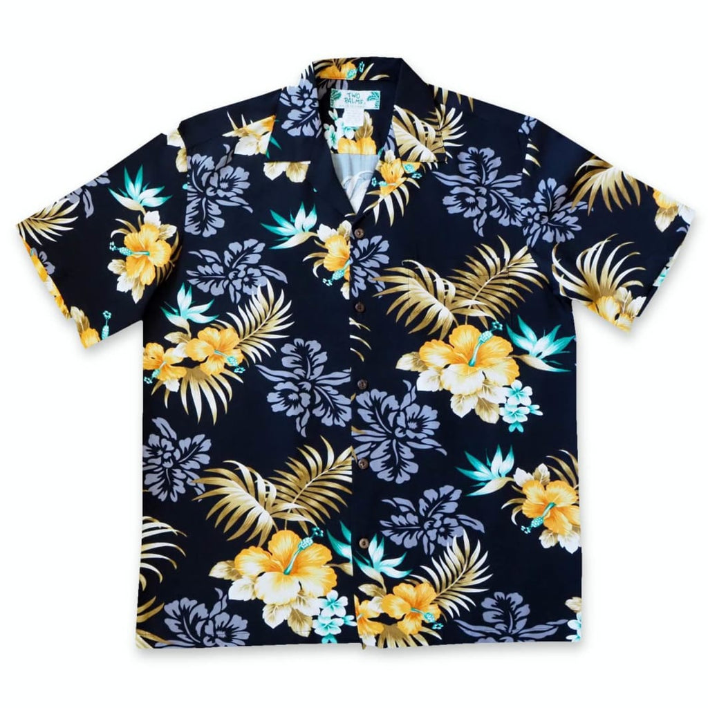 Passion Black Hawaiian Rayon Shirt - S / Black - Mens Shirts