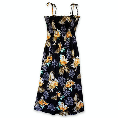 Passion Black Maxi Hawaiian Dress - One Size / Black - Women's Dress