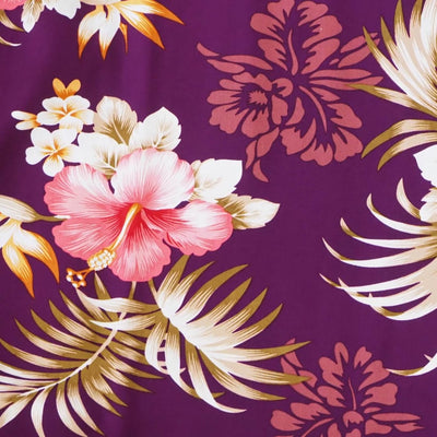 Passion Purple Hawaiian Rayon Fabric by the Yard - Purple - Fabric