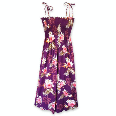Passion Purple Maxi Hawaiian Dress - One Size / Purple - Womens Dress