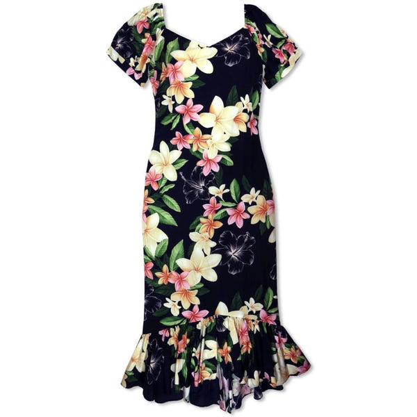 Pebble Black Malama Hawaiian Dress - Womens Dress
