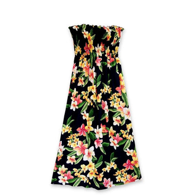 Pebble Black Maxi Hawaiian Dress - One Size / Black - Women's Dress