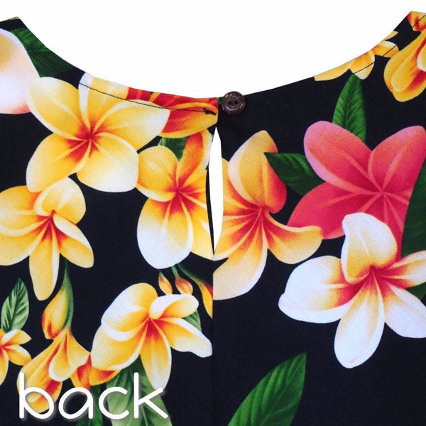 Pebble Black Xoxo Hawaiian Dress - Womens Dress