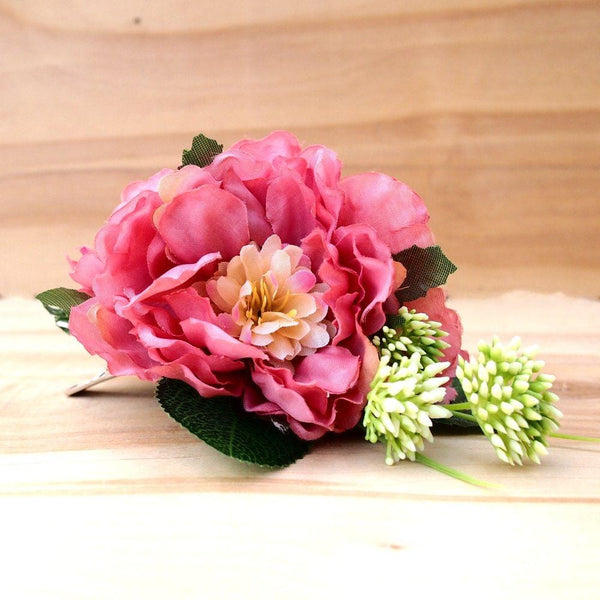 Peony Paeony Hawaiian Flower Hair Clip - Hair Accessories