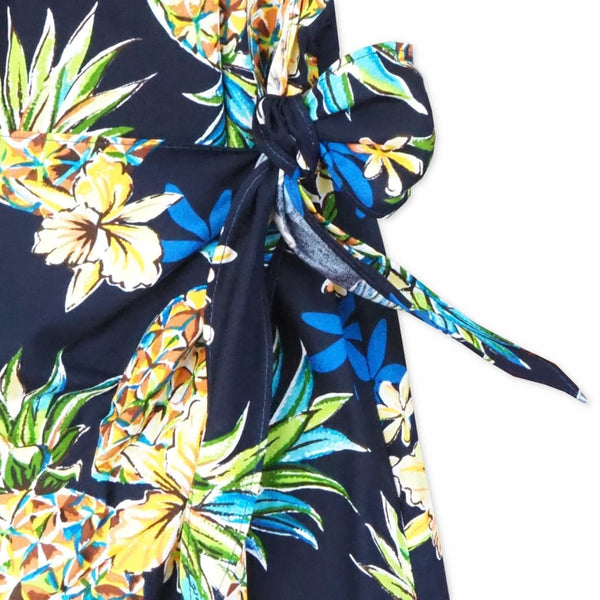 Pineapple Blue Honi Hawaiian Dress - Womens Dress