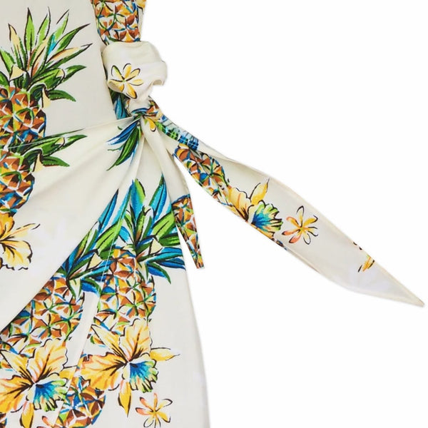 Pineapple Cream Honi Hawaiian Dress - Womens Dress