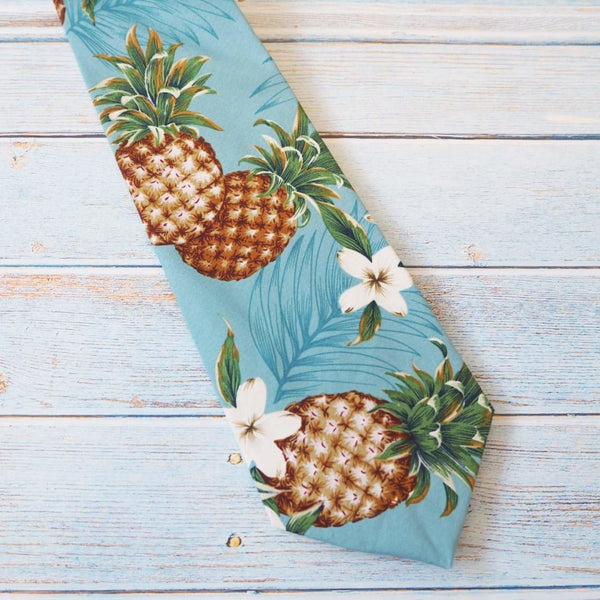 Pineapple King Hawaiian Necktie - Necktie