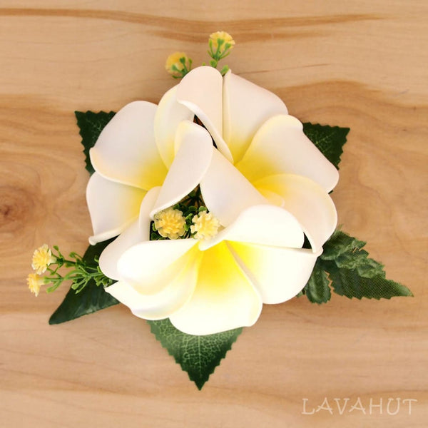 Plumeria Summer Hawaiian Flower Hair Clip - Hair Accessories
