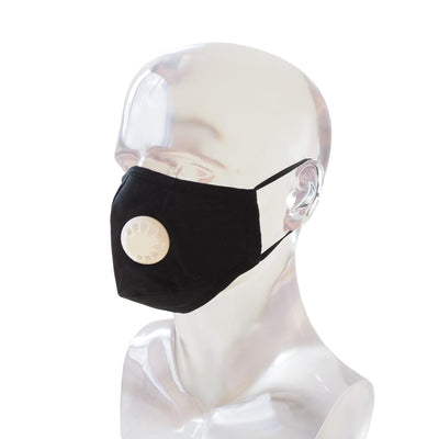 Pm 2.5 Respirator Face Mask • Black - Black / White - Face Mask