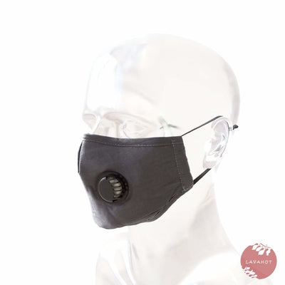 Pm 2.5 Respirator Face Mask • Gray (black Valve) - Gray / Black - Face Mask