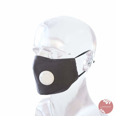 Pm 2.5 Respirator Face Mask • Gray - Gray / White - Face Mask