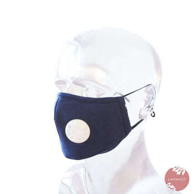Pm 2.5 Respirator Face Mask • Navy - Navy / White - Face Mask