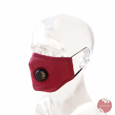 Pm 2.5 Respirator Face Mask • Red (black Valve) - Red / Black - Face Mask