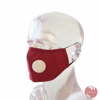 Pm 2.5 Respirator Face Mask • Red - Red / White - Face Mask