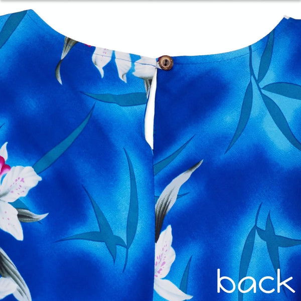 Poipu Blue Malia Hawaiian Dress - Womens Dress