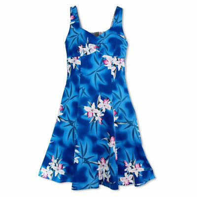 Poipu Blue Molokini Hawaiian Dress - s / Blue - Women's Dress