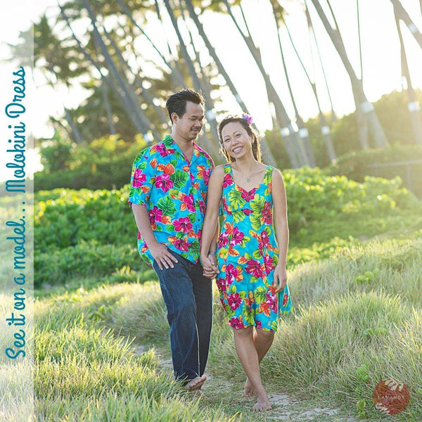 Poipu Blue Molokini Hawaiian Dress - Womens Dress