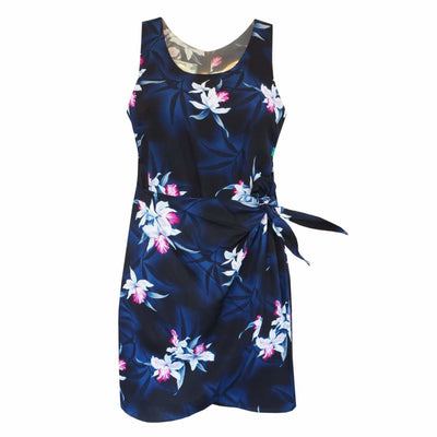Poipu Grey Honi Hawaiian Dress - s / Grey - Women's Dress