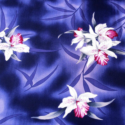Poipu Purple Hawaiian Rayon Fabric by the Yard - Purple - Fabric