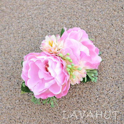Precious Hawaiian Flower Hair Clip - Pink - Hair Accessories