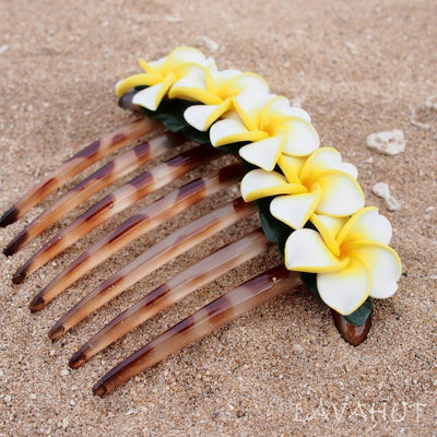 Pretty Plumeria Hair Comb - White - Hair Accessories