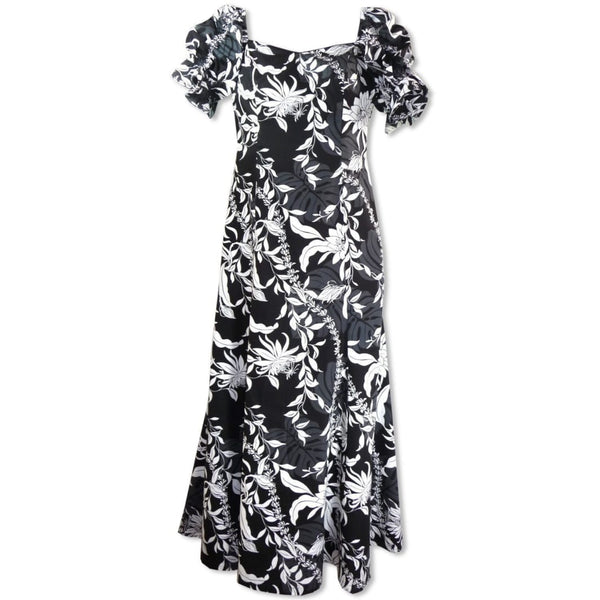 Punahou Black Aikane Hawaiian Dress - Womens Dress