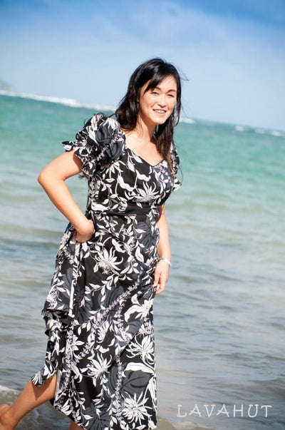 Punahou Black Aikane Hawaiian Dress - Women's Dress