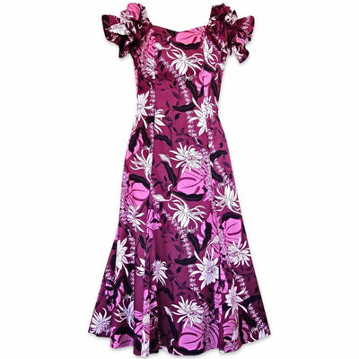 Punahou Purple Aikane Hawaiian Dress - s / Purple - Women's Dress