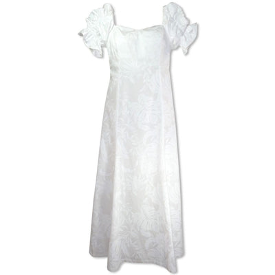 Punahou White Aikane Hawaiian Wedding Dress - s / White - Women's Dress