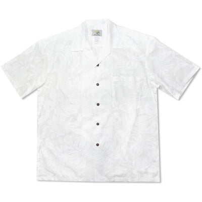 Punahou White Hawaiian Beach Wedding Shirt - S / White - Mens Shirts