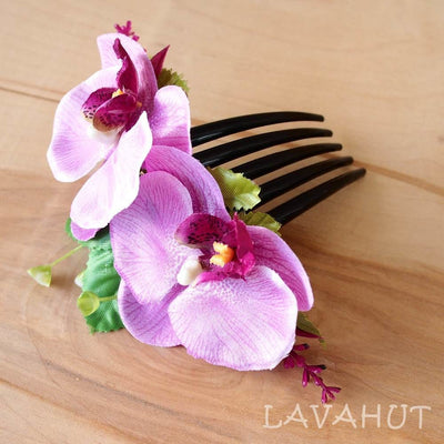 Purple Orchid Joy Hawaiian Hair Comb - Purple - Hair Accessories