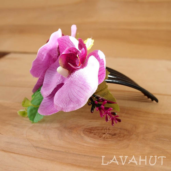 Purple Orchid Joy Hawaiian Hair Comb - Hair Accessories