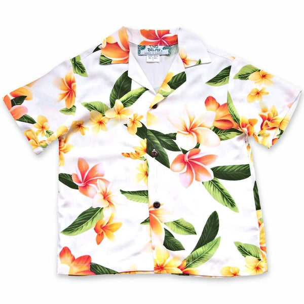 Rain White Hawaiian Boy Shirt - Boys Hawaiian Shirts