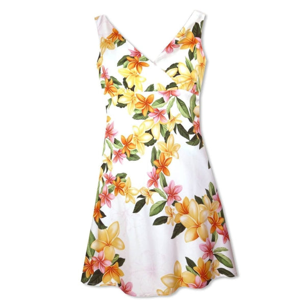 Rain White Laki Hawaiian Dress - Womens Dress