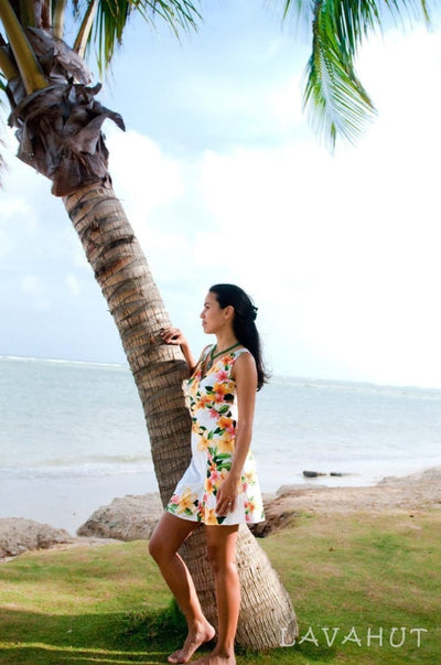 Rain White Laki Hawaiian Dress - Women's Dress