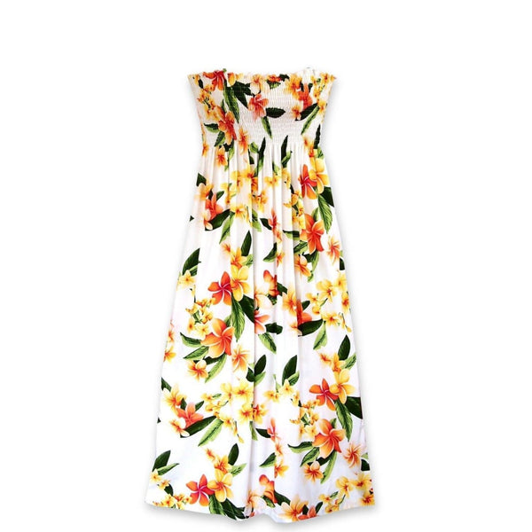 Rain White Maxi Hawaiian Dress - Womens Dress