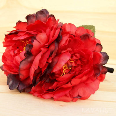 Red Wild Child Flower Headband - Red - Hair Accessories