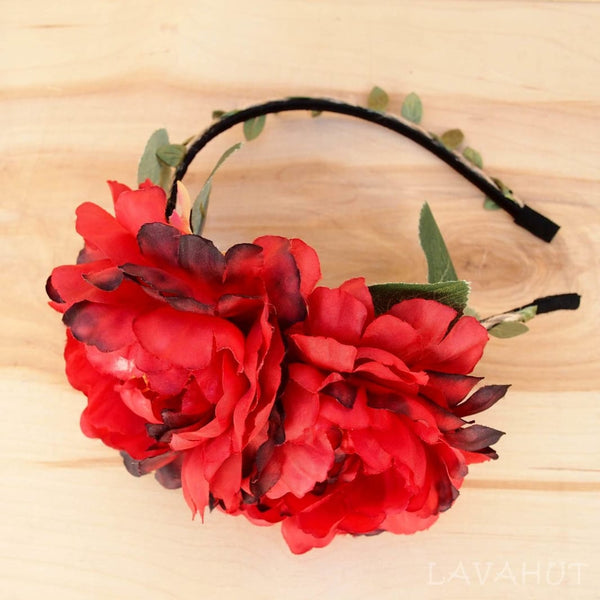 Red Wild Child Flower Headband - Hair Accessories