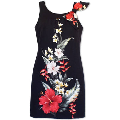 Royal Hibiscus Lana Hawaiian Dress - Womens Dress