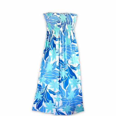 Sea Breeze Blue Maxi Hawaiian Dress - One Size / Blue - Women's Dress