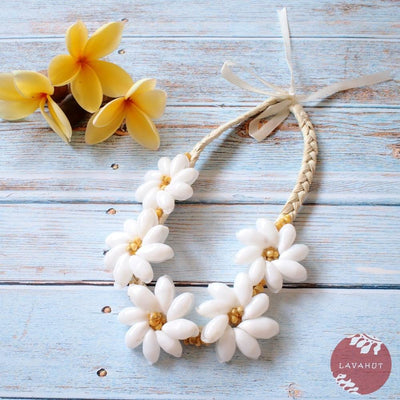 Sea Flower Yellow Hawaiian Necklace - Yellow - Necklaces