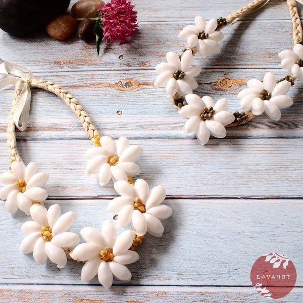 Sea Flower Yellow Hawaiian Necklace - Necklaces